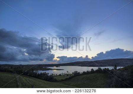 A Sunset View Of Lough Eske In Donegal