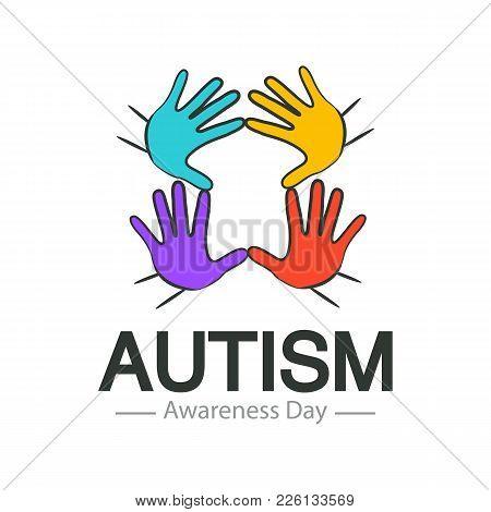 Autism Awareness Day Logo Design Vector Template