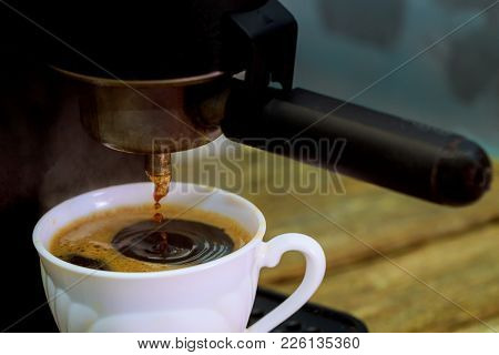 Express Coffee From The Coffee Maker Show Professional Coffee Maker
