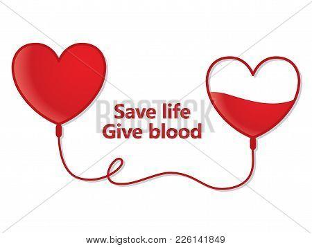 Blood Donation, Simple Illustration On White Background