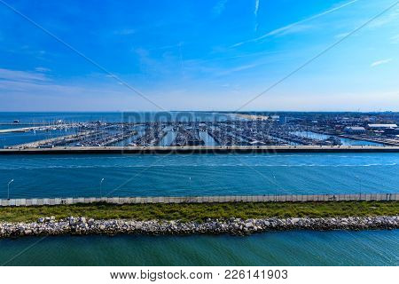 Endless Marina Under Blue Skies In Italy