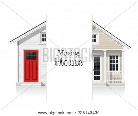 Architectural Concept Background For Moving , Changing Home And Renovation , Vector , Illustration