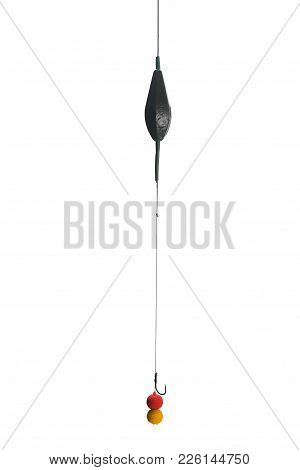 Baits,hook, Line And Sinker. Ready Bait For Carpfishing. Isolate On White Background. Copy Paste