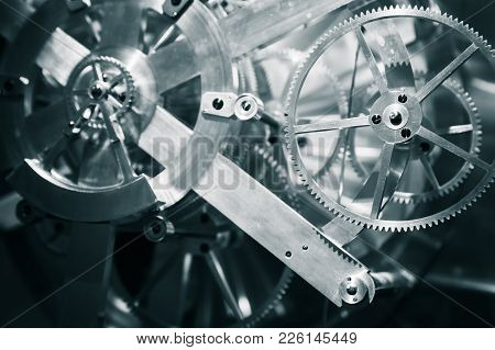 Mechanical Clock Mechanism, Close-up
