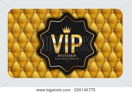 Luxury Members, Gift Card Template For Your Business Vector Illustration Eps10