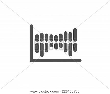 Column Chart Simple Icon. Financial Graph Sign. Stock Exchange Symbol. Business Investment. Quality