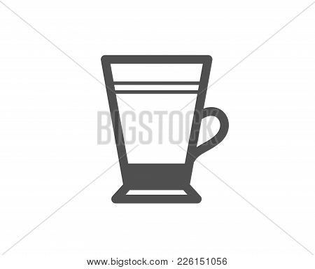 Latte Coffee Icon. Hot Drink Sign. Beverage Symbol. Quality Design Elements. Classic Style. Vector