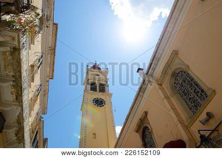 The Bell Tower Of Saint Spyridon Church, Corfu, Greece