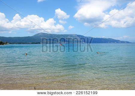 The Beach Is On Corfu Island, Greece