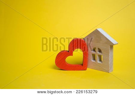 House With A Heart. House Of Lovers. Affordable Housing For Young Families. Accommodation For Lovers