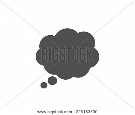Comic Speech Bubble Simple Icon. Chat Sign. Communication Or Comment Symbol. Quality Design Elements