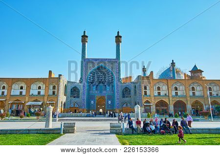 Isfahan, Iran - October 20, 2017: The Central Square Of The City, Named Naqsh-e Jahan (royal) Is The
