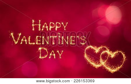 Beautiful Greeting Card Happy Valentine's Day