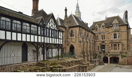 17Th Century House & 19Th Century Blue Coat School