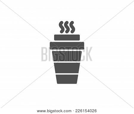 Takeaway Coffee Cup Simple Icon. Hot Drink Sign. Takeout Symbol. Quality Design Elements. Classic St