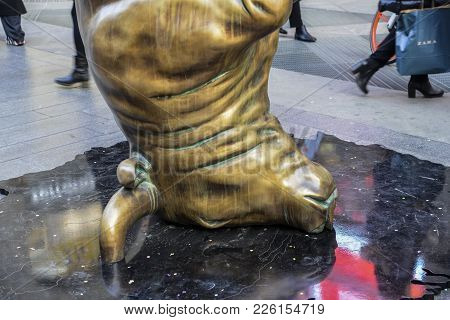 Bronze Sculpture By Christian Balzano Entitled Resilience. The Bull Is Used Emblematically By The Ar