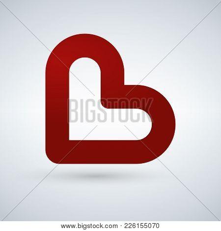 Simple Heart Icon Representing Love Emotion. Vector Icon. This Also Represents Passion, Romance, Fri