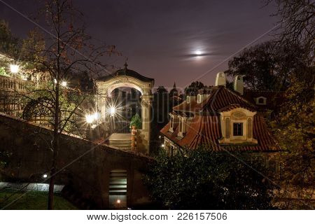Small Furstenberg Garden - July 11: Lookout Terrace In Small Furstenberg Garden After Dark, The Part