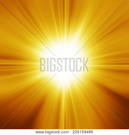 Yellow Glowing Light. Bright Shining Star. Bursting Explosion. Transparent Graphic Design Element. C