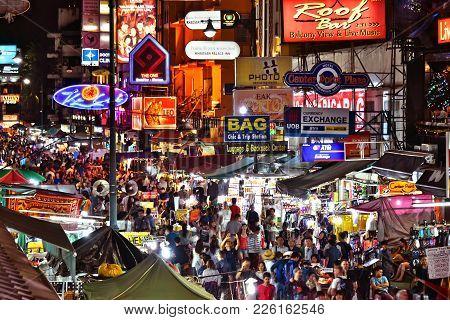 Yaowarat Road, The Main Street Of Chinatown In Bangkok Thailand