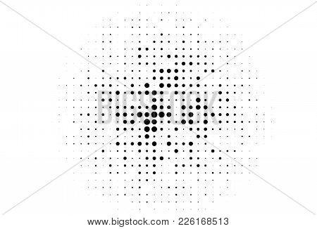 Abstract Futuristic Halftone Pattern. Comic Background. Dotted Backdrop With Circles, Dots, Point Di