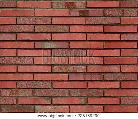 Seamless Red Brown Brick Wall Pattern Background Texture. Red Seamless Brick Wall Background. Archit