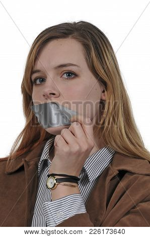 Woman With Tape