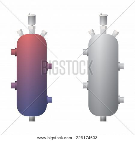 Hydraulic Arrow For The Heating System Vector Illustration.the Thermal Imager.