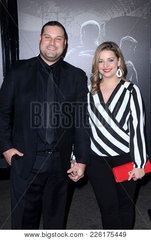LOS ANGELES - FEB 5:  Max Adler, Jennifer Adler at the