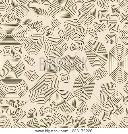 Turtle Seamless Pattern Background. Brown And Beige Tortoise Vector Illustration. Terrapin Wallpaper