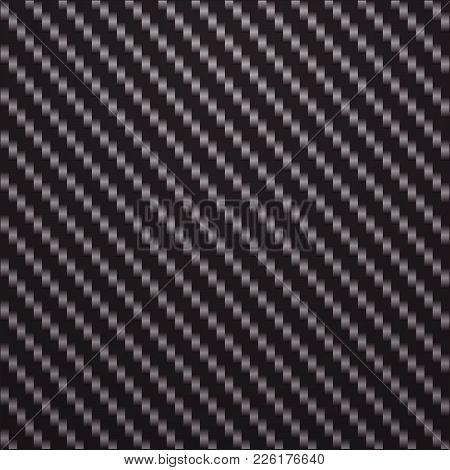 Black And Silver Carbon Fiber Background Texture Vector Illustration