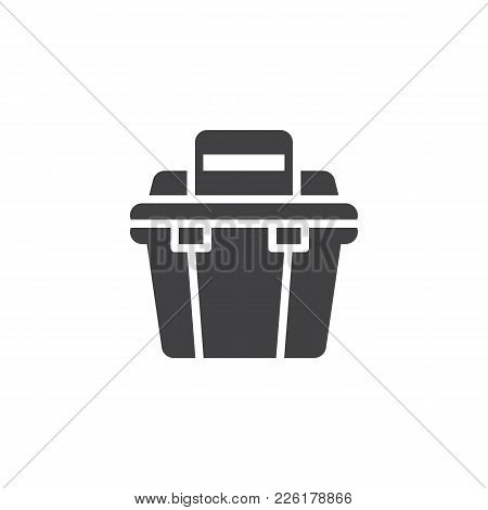 Toolbox Icon Vector, Filled Flat Sign, Solid Pictogram Isolated On White. Repair Tool Box Symbol, Lo