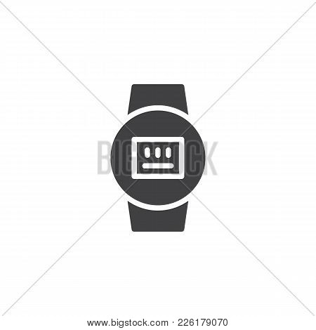 Electric Meter Icon Vector, Filled Flat Sign, Solid Pictogram Isolated On White. Symbol, Logo Illust