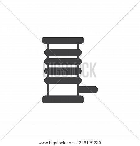 Coil With A Cord Cable Icon Vector, Filled Flat Sign, Solid Pictogram Isolated On White. Symbol, Log