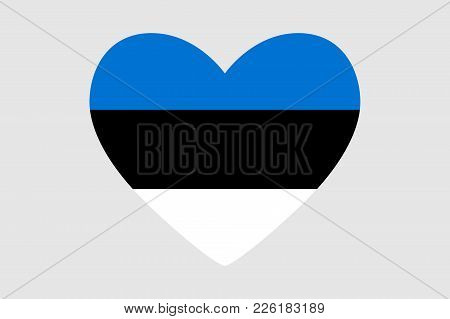 Heart Of The Colors Of The Flag Of Estonia, Vector