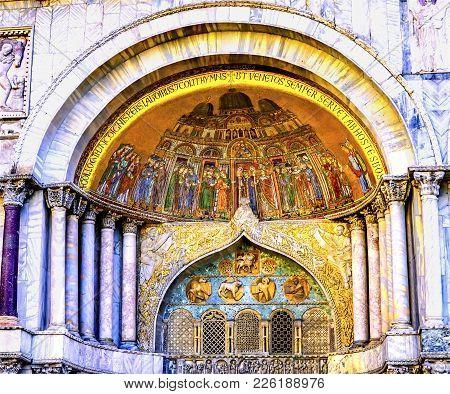 Deposition Relics Mosaic Saint Mark's Church Venice Italy