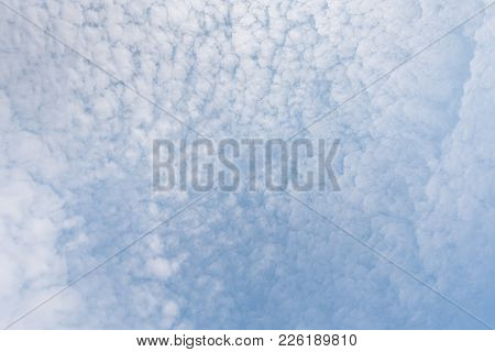 Blue Sky With Cloud For Background Or Wallpaper