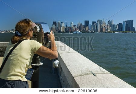 looking at Manhattan