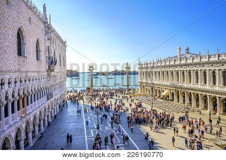 Doge's Palace Grand Canal Saint Mark's Square Piazza Venice Italy