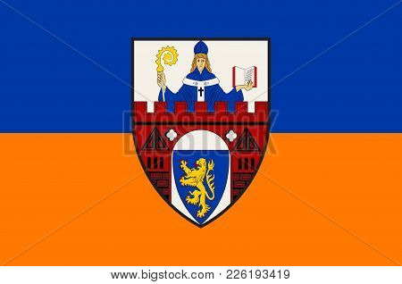 Flag Of Siegen Is A City In Germany, In The South Westphalian Part Of North Rhine-westphalia. Vector