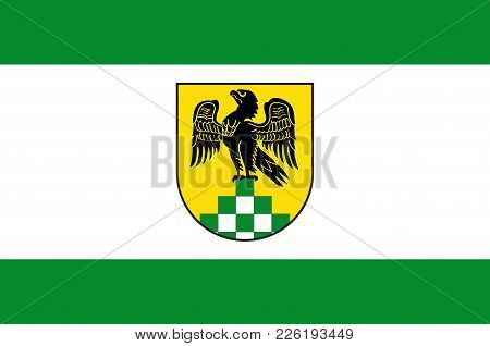 Flag Of Anroechte Is A Municipality In The District Of Soest, In North Rhine-westphalia, Germany. Ve