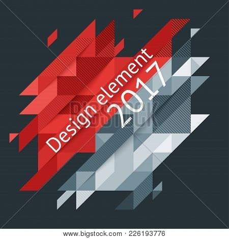 Minimalistic Design, Creative Concept, Modern Diagonal Abstract Background Geometric Element. Red An
