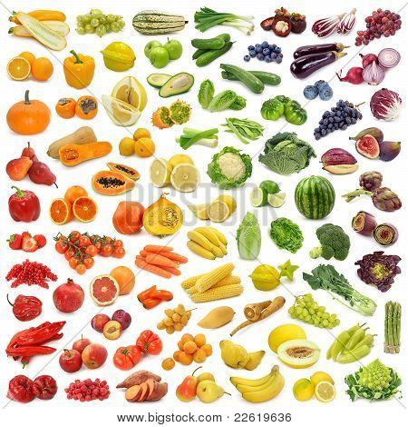 Sammlung von Obst und Gemüse