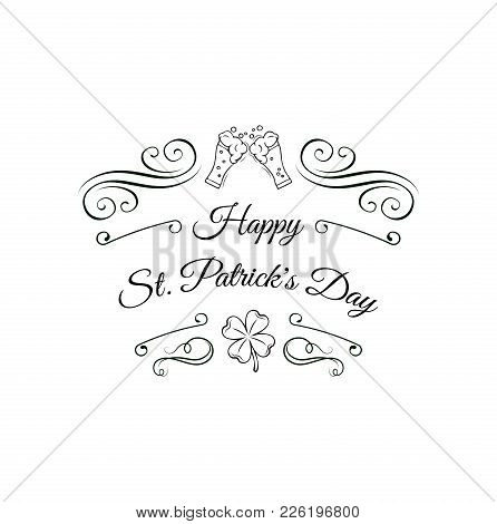Typographic Style Poster For St. Patrick S Day With Message Happy St. Patrick S Day. Poster Design M