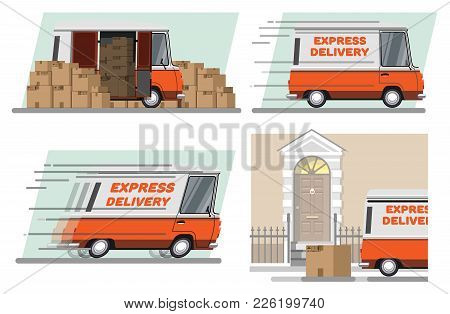 Express Delivery. Express Delivery By Car. Urgent Delivery Of Parcels By Car. Services Of Delivery O