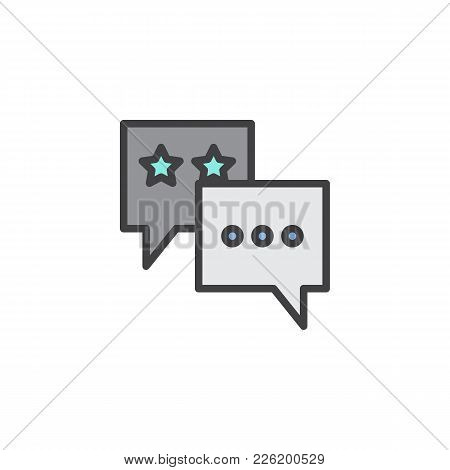 Favorite Chat Filled Outline Icon, Line Vector Sign, Linear Colorful Pictogram Isolated On White. Sp