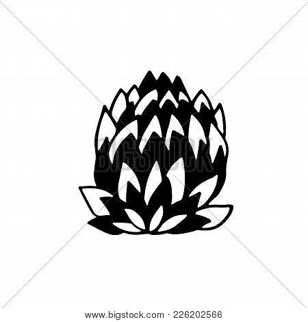 Artichoke Icon. Vegetable Healphy Eat. Vector Illustration