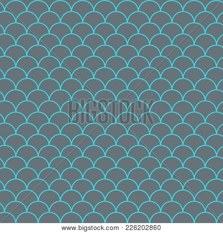 Mermaid Tail Seamless Pattern. Fish Skin Texture. Tillable Background For Girl Fabric, Textile Desig
