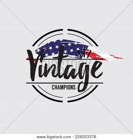 American Made In Usa Retro Vintage Labels Concept Vector Illustration. Eps 10