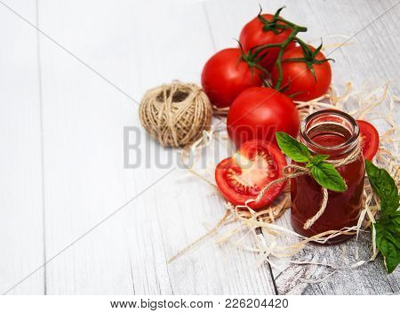 Bottle With Tomato Juice
